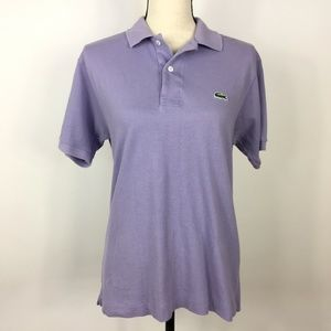 Lacoste XS Short Sleeve Lavender Polo Shirt